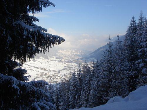 snow mountains winter