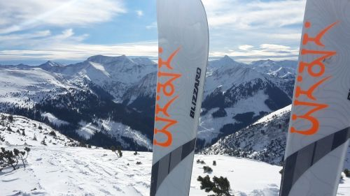 snow ski ski touring