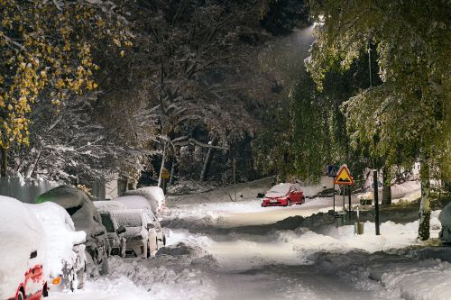 snow street cars