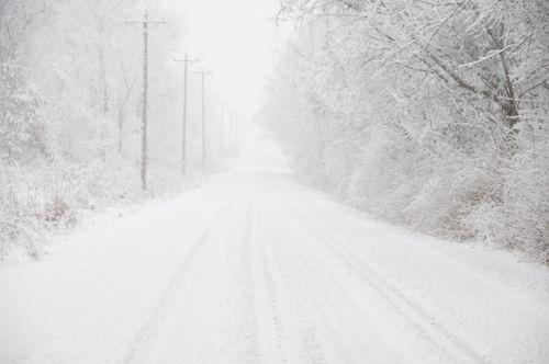 snow road winter