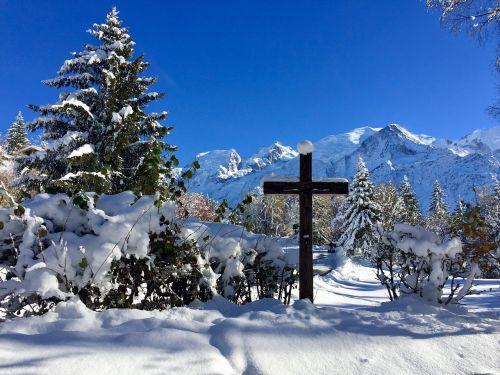 snow,cross,alps,mountain,snowy landscape,winter,landscape snow,winter landscape,landscape,white,nature,catholic,christian,mont blanc