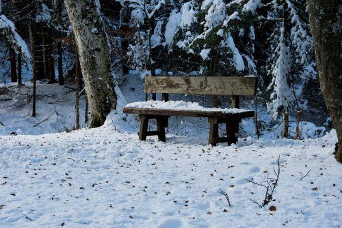 snow landscape morgenstimmung
