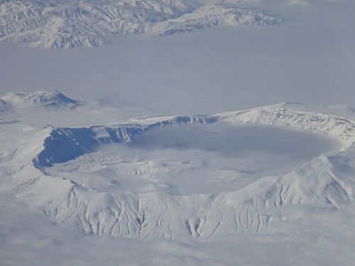 snow aerial photograph mountain