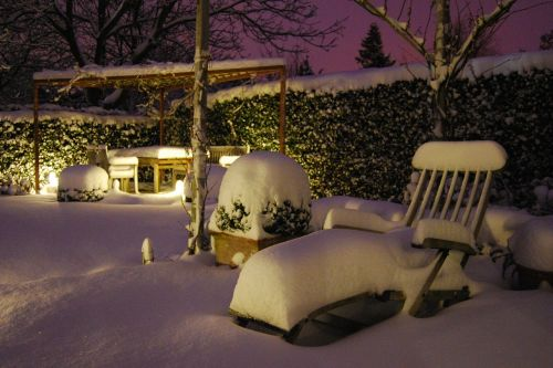 snow garden furniture