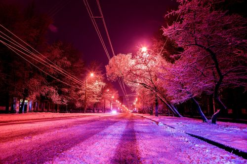 snow street winter