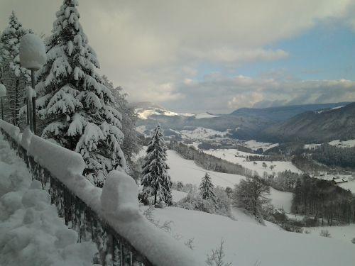 snow landscape jura