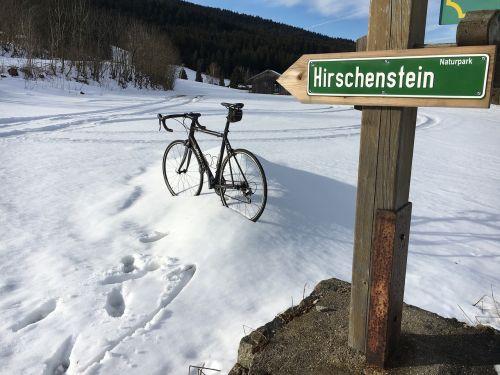 snow road bike mountain