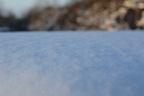 snow glitter december