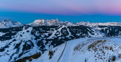 snow winter panoramic image