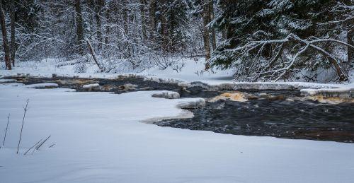 snow winter river