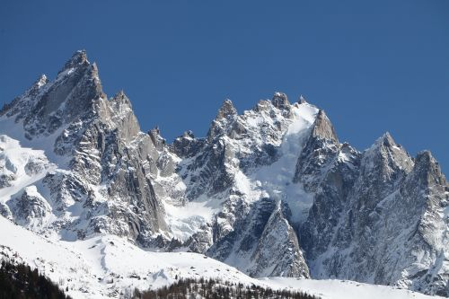 snow mountain the aiguilles of chamonix