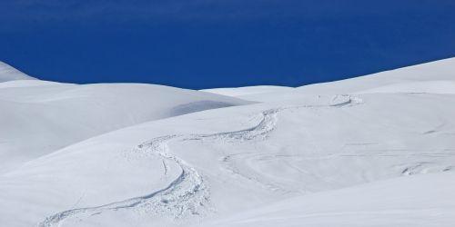 snow winter ski run