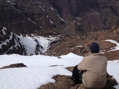 snow mounts mountain