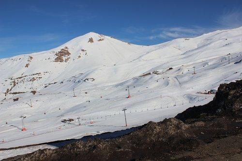 snow  chile  mountain
