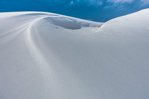 snow  new zealand  snowdrift