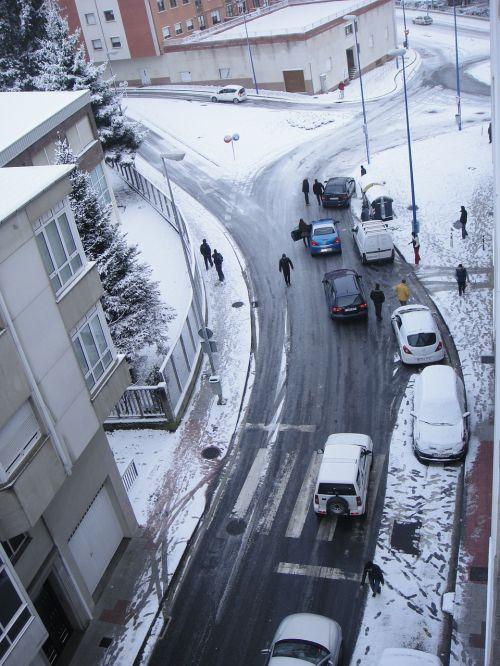snow jam of traffic nevado