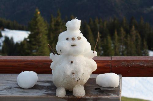 snow snow man winter