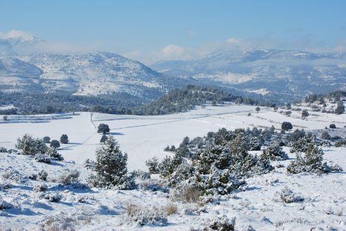 snow landscape mount