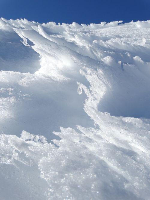 snow ice sun