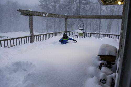 snow drift deep