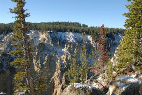 snow scenery canyon
