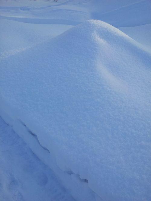 snow snowdrift winter