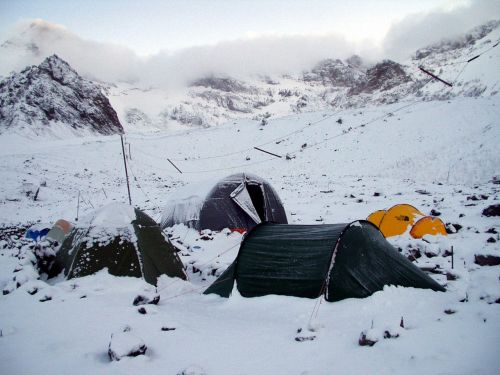 snow stock base camp