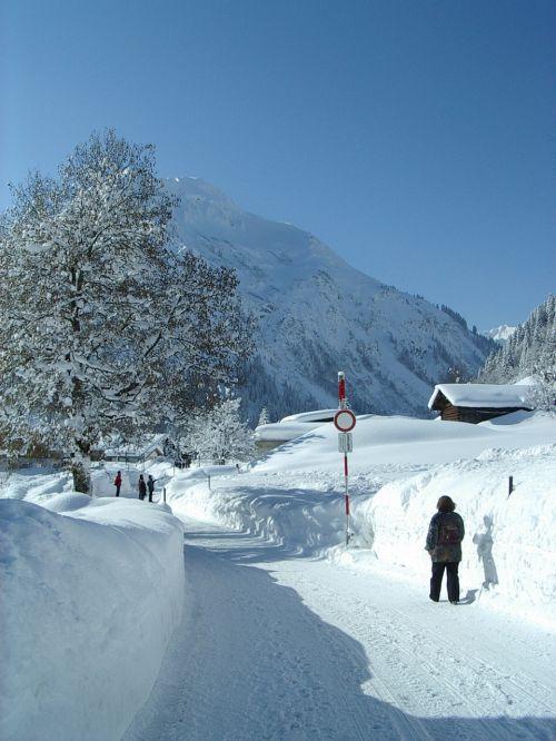 snow winter höhenweg