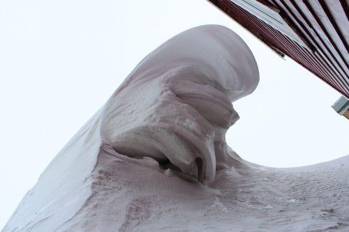 snow snowdrift wind