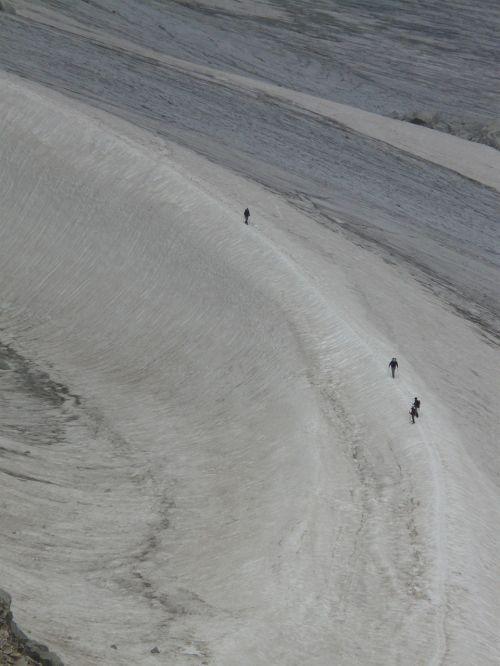 snow glacier human