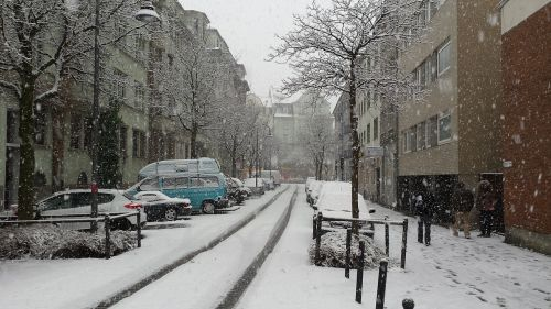 snow winter city
