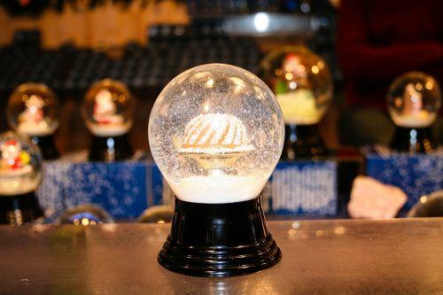 snow ball christmas glass ball
