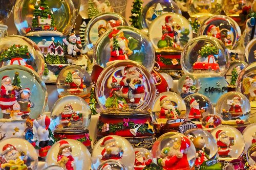 snow balls  christmas market  sale