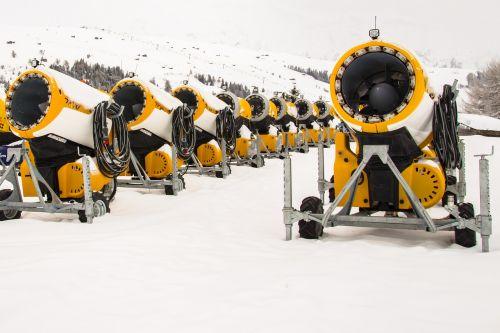 snow cannons snow winter