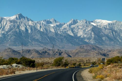 snow capped mountains sierra nevada