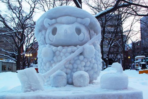 snow carving snow art festival