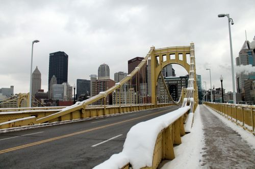 Snow Covered 6th Street Bridge - 01
