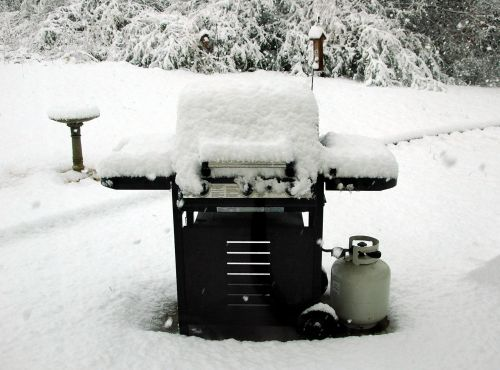 Snow Covered BBQ Grille