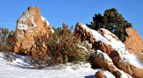 Snow Covered Rocks