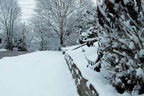 Snow Covered Wall - 01