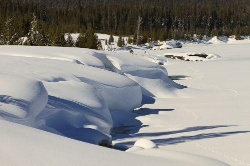 snow drifts winter nature