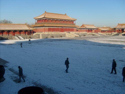 Snow IN Forbidden City