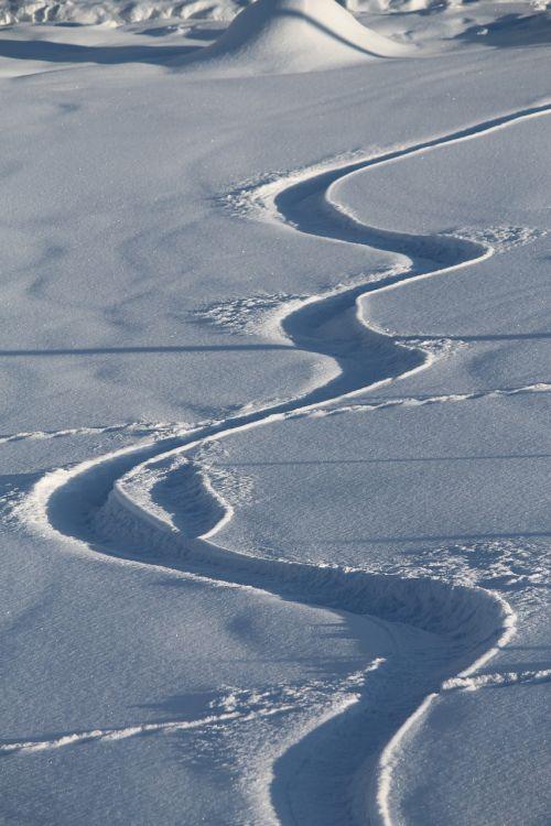 snow lane trace snow