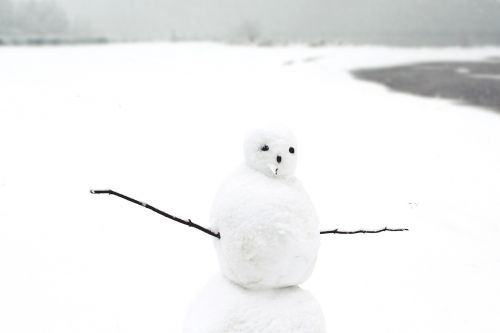 snow man snow winter