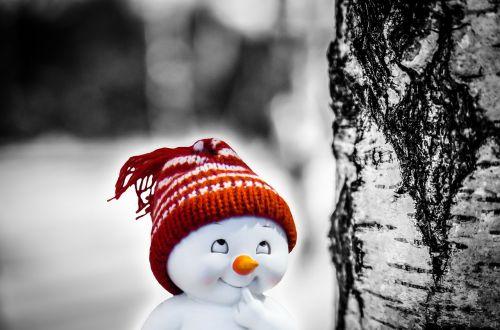 snow man smile consider