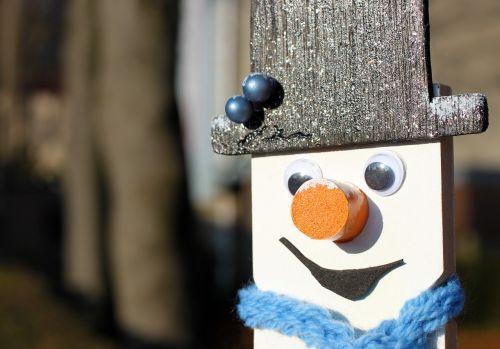 snow man snow scarf