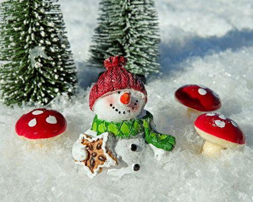 snow man snow crystals