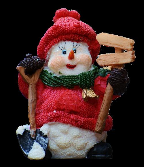 snow man figure christmas