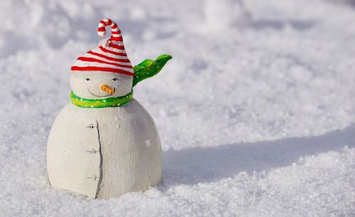 snow man snow winter