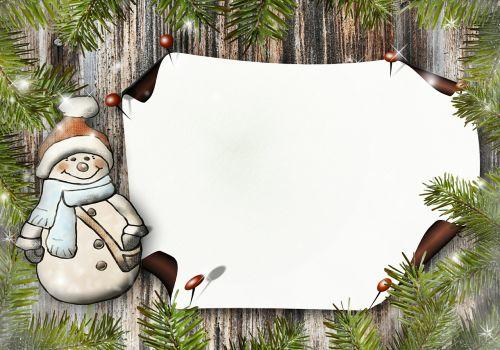 snow man paper greeting card